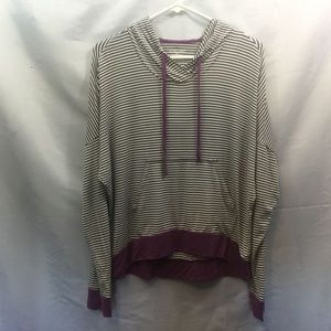 Jasmine & Ginger Size S Striped Hooded Sweater